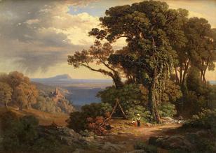 Johann Jakob Frey-(Swiss, 1813-1865)-Lake Nemi
