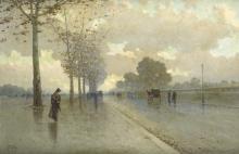 Michele Catti (Italian, 1855-1914) Viale cittadino