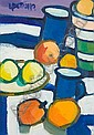 Lin Pattullo (British, born 1949) Still life of lemons, and another similar, smaller, Lin Pattullo, Click for value