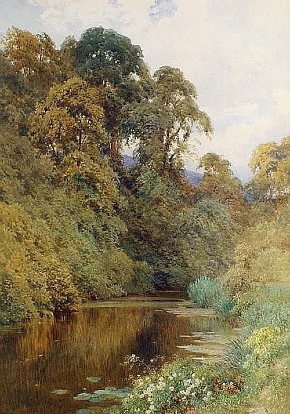 Harry Sutton Palmer, R.I. (British, 1854-1933) The River Mole, near Dorking