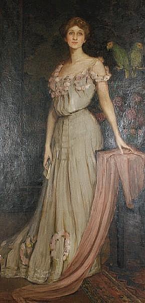 Lydia Amanda Brewster Sewell (American, 1859-1926), c.1910 Portrait of Florida Scott-Maxwell (née Pier)