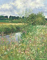 Charles Neal (British, 20th Century) River Windrush north of Sherborne; Riv