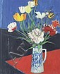 John Houston, OBE RSA RSW RGI SSA (British, 1930-2008) Tulips 76.5 x 63 cm. (30 1/8 x 24 13/16 in.), John Houston, Click for value