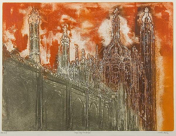 Walter Hoyle (British, Lancashire, 1922-2000) Kings College, Cambridge