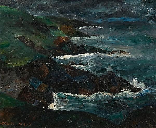 Colin Moss (British, 1914-2005) 'Cornish coast'
