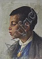 Clemente Tafuri (Italian, 1903-1971) Portrait of a young boy, Clemente Tafuri, Click for value