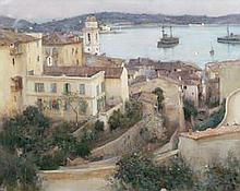 JULES ALEXIS MUENIER (FRENCH, 1863-1942) Villefranche sur Mer signed and dated 'J.A.MUENIER '95' (lo