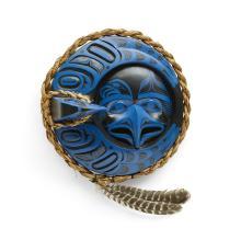 A Patrick Amos mask, 'Crescent Eagle Moon'