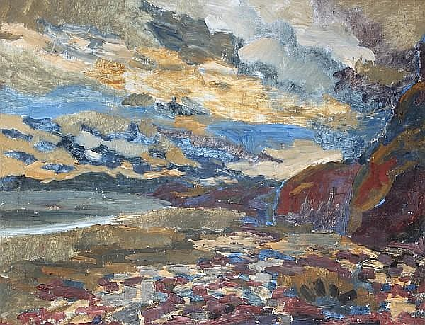 Arthur Giardelli (British, 1911-2009) 'Telpyn, (Amroth)',