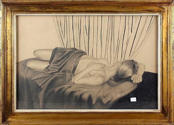 Mark Clark (British, born 1959) Reclining nude
