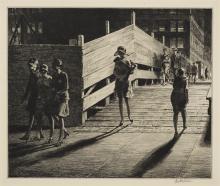 Martin Lewis (1881-1962); Fifth Avenue Bridge;