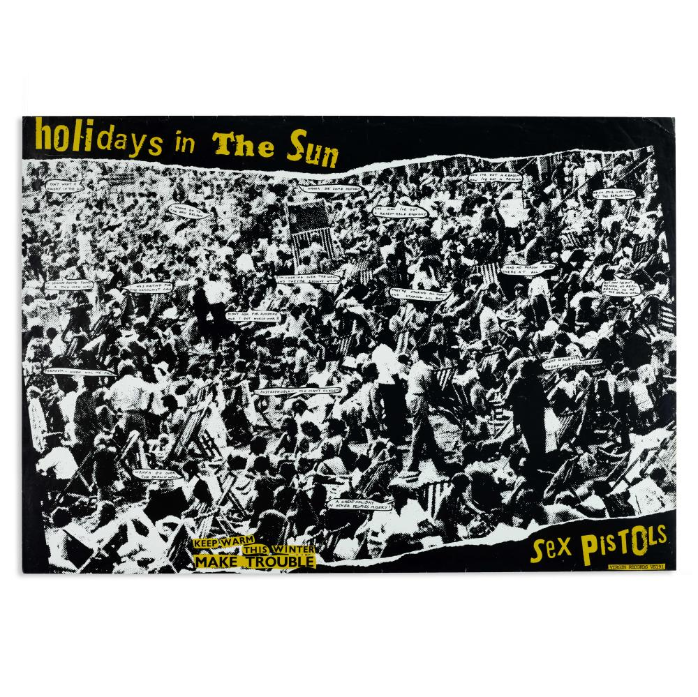 Sex Pistols: Promotional poster for 'Holidays In the Sun,' 1977