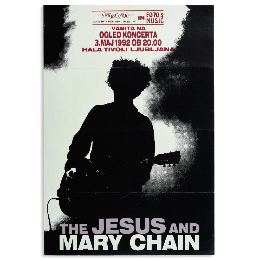 Jesus and Mary Chain: Concert Poster, 1992