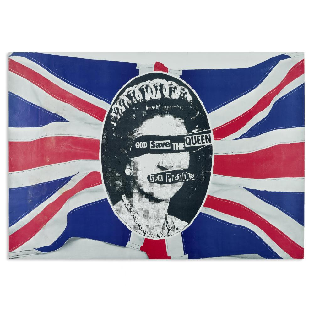 Sex Pistols: Promotional Poster for 'God Save the Queen,' 1976