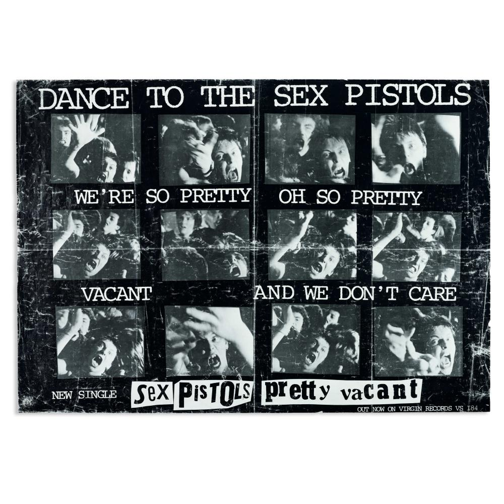 Sex Pistols: Promotional poster for 'Pretty Vacant,' Photo version, 1977