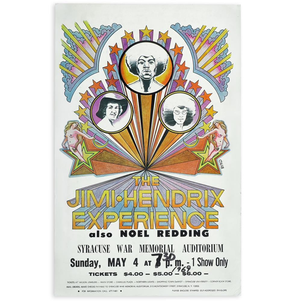 The Jimi Hendrix Experience: Concert Poster