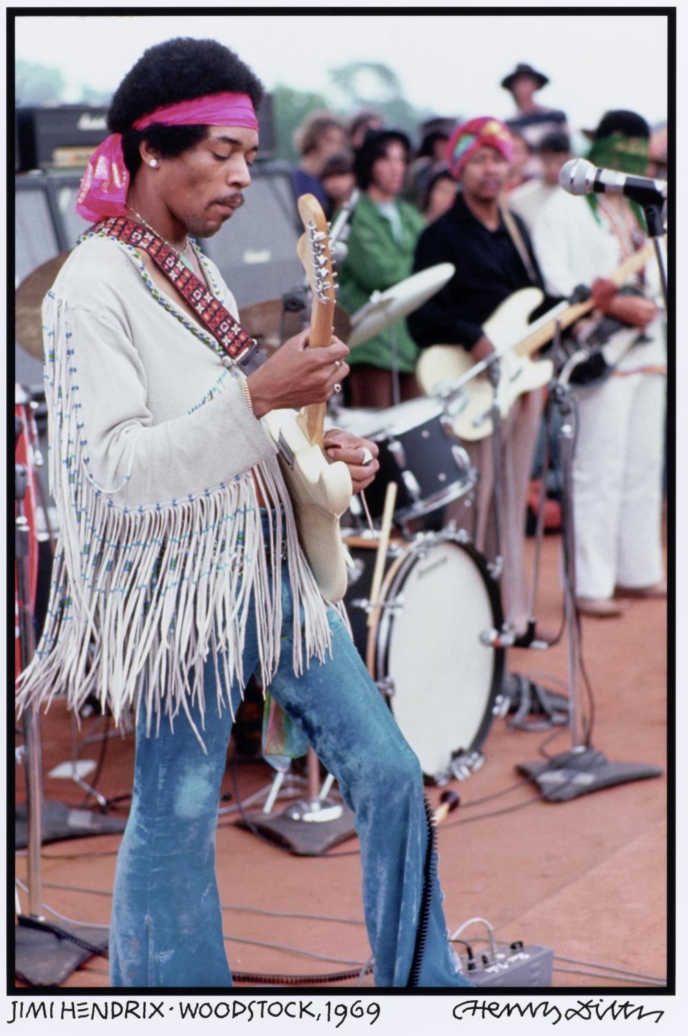 Jimi Hendrix: Photograph by Henry Diltz
