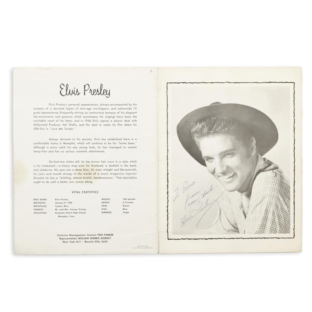 Elvis Presley: Signed Souvenir Photo Album, 1956