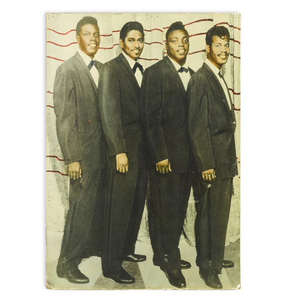The Coasters: Hand-tinted photograph from the Apollo Theatre