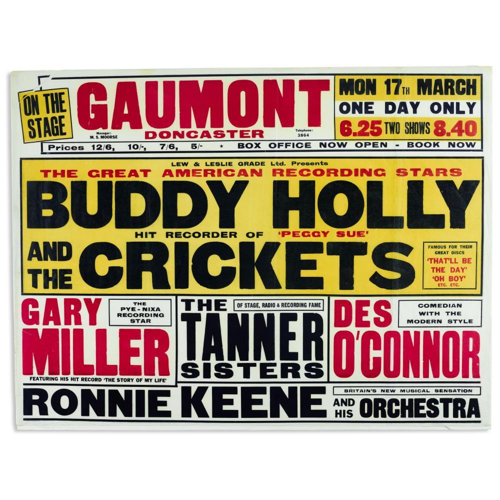 Buddy Holly & the Crickets: Concert Poster, 1958