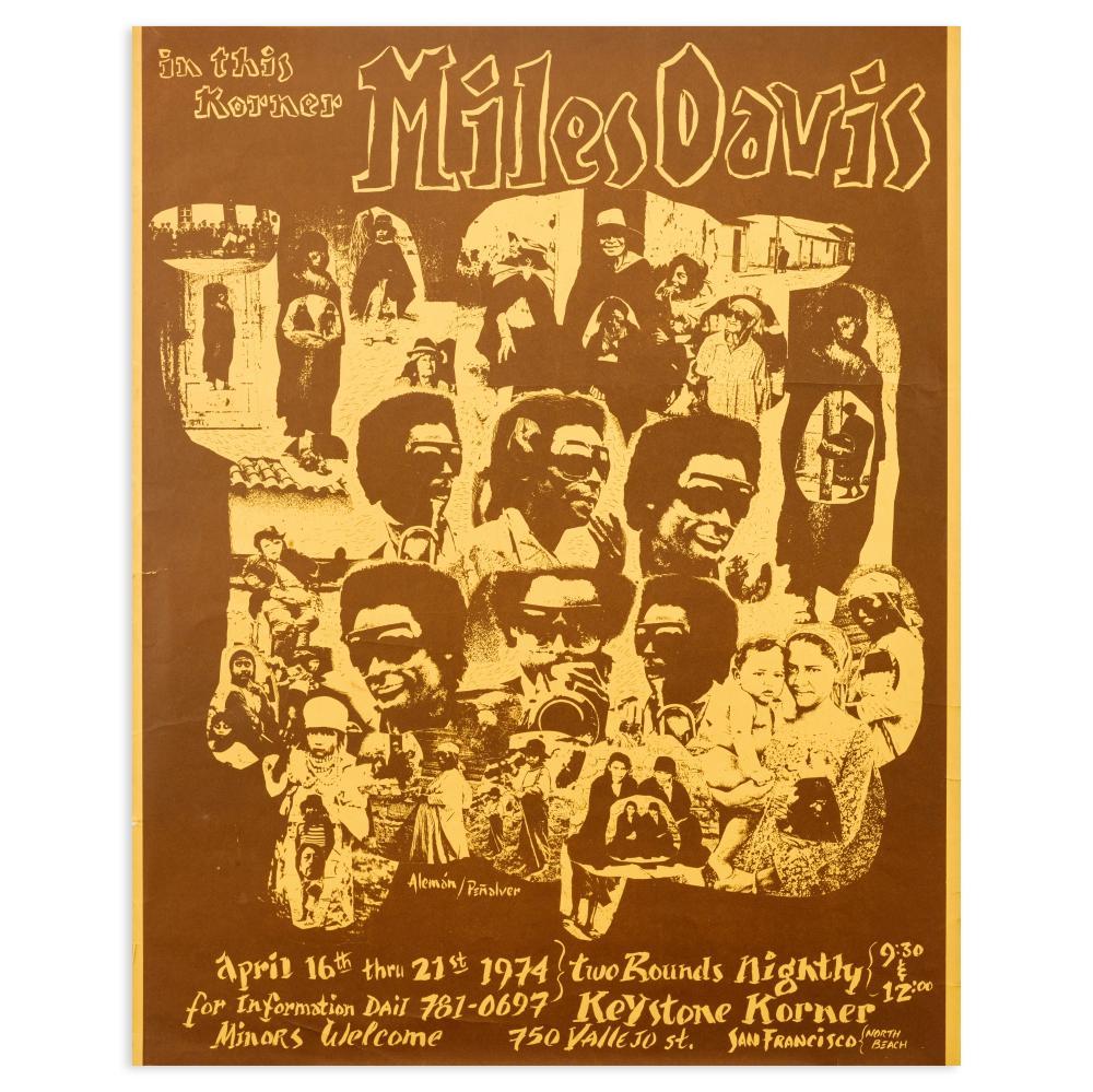 Miles Davis: Concert Poster, 1974