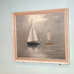 DAVID COBB, Yachting Scenes, a pair, oil on canvas, signed (2)
