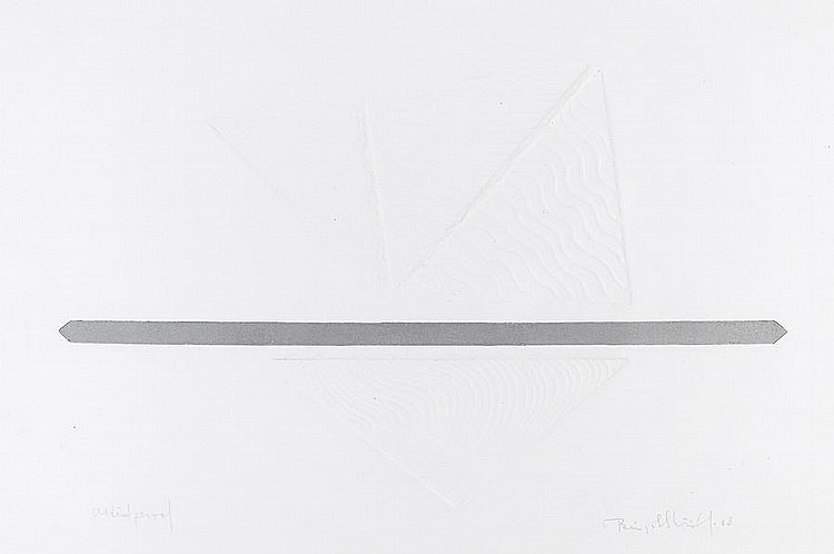 Birgit Skiold (Swedish, 1923-1982) Untitled Etching in relief, 1968, on wove, signed, dated and inscribed 'artist's proof' in pencil, 362 x 545mm (14 1/4 x 21 1/2in)(I)