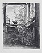 Adolf von Menzel (Polish/German, 1815-1905) A Collection Including eight etchings, from
