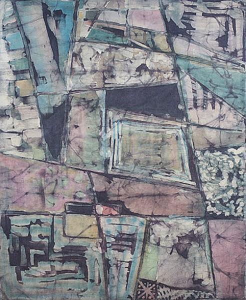 Dominique Kouas (Dominique Kouas Gnonnou) (Beninese, born 1952) Abstract composition II unframed