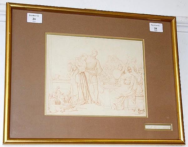 Friedrich Moritz August Retzsch (German, 1779-1857) Classical figures