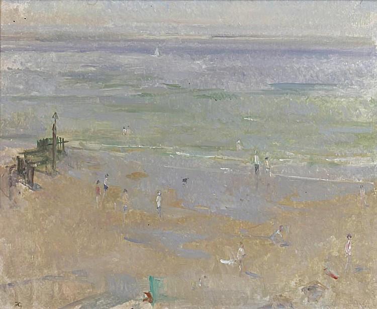 Peter Greenham (British, 1909-1992) Beach scene in summer
