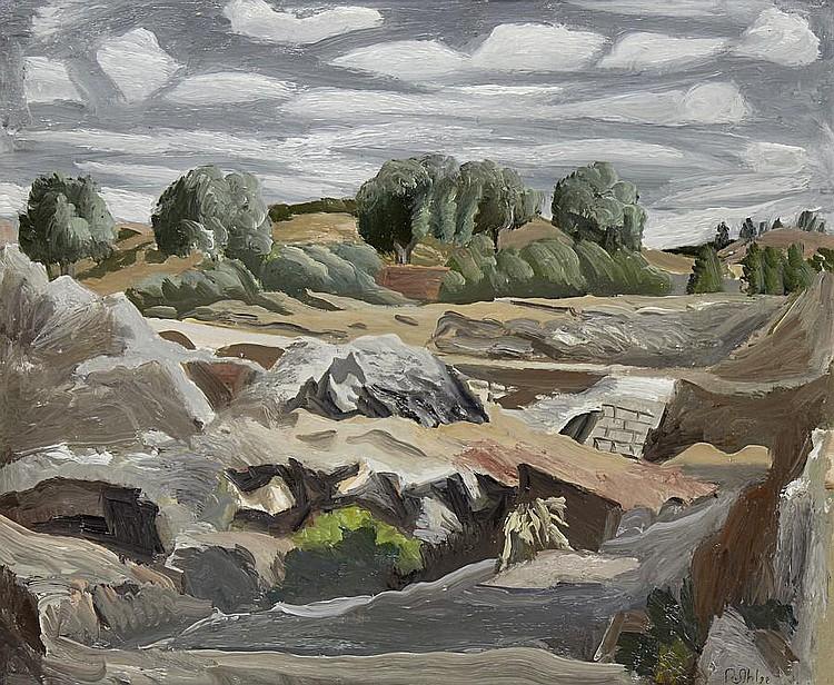 Rudolph Ihlee (British, 1883-1968) Landscape near Collioure