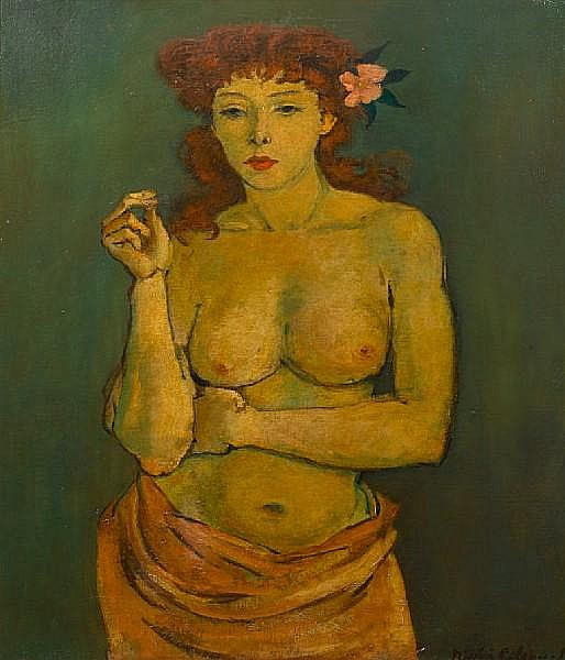 Nicolai Cikovsky (Russian, 1894-1987) Auburn-haired beauty