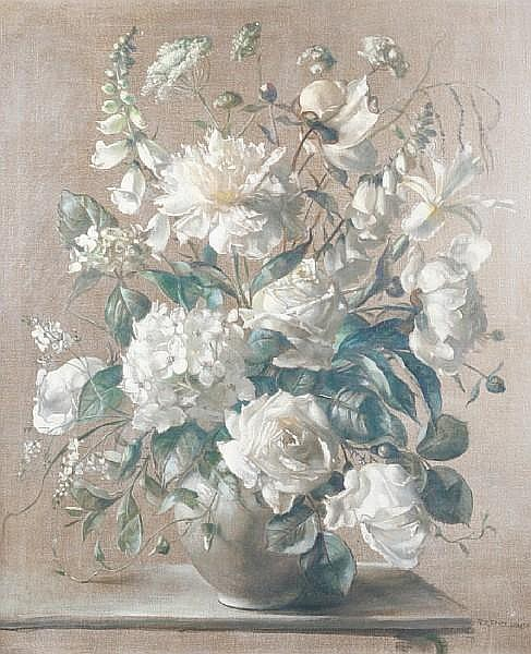 Terence Loudon (British, active 1931-1940) 'White and silver'