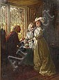 William Brassey Hole (British, 1846-1917) A daughter taking leave of her parents, William Brassey Hole, Click for value