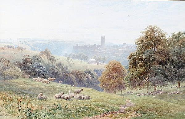 Harry Sutton Palmer, R.I. (British, 1854-1933) Sheep in a pasture