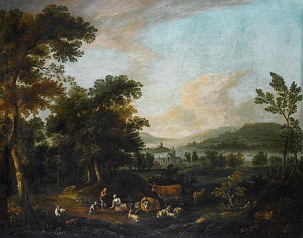 Circle of Michiel Carrée (The Hague 1657-1727 Alkmaar) An extensive river landscape