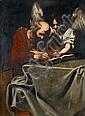 Follower of Nicolas Regnier (Maubeuge 1590-1667 Venice) Saint Matthew and the Angel, Nicolas Regnier, Click for value