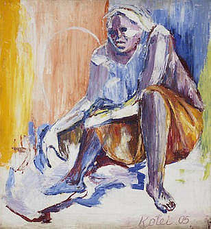 Amon Kotei (Ghanaian, 1915-2011) Seated figure