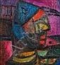 Shakir Hassan Al-Said (Iraq, 1925-2004) A Man's Face,, Šākir Ḥasan Āl Saīd, Click for value