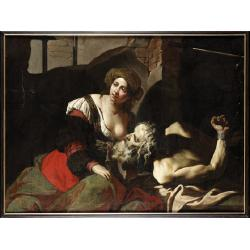 Bernardino Mei (Siena 1615-1676 Rome) Roman Charity oil on canvas 98 x 131 cm.
