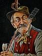 Hans Barttenbach (German, born 1908) Connoisseurs, a pair of portraits each 17 x 13cm (6 11/16 x 5 1/8in) (2), Hans  Barttenbach, Click for value