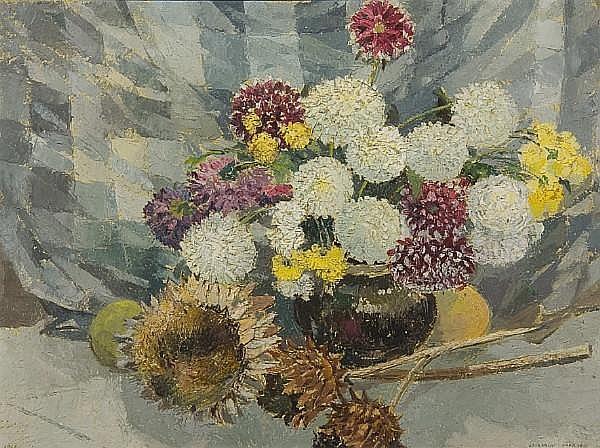 Cavendish Morton (British, born 1911) Still life of flowers in a vase