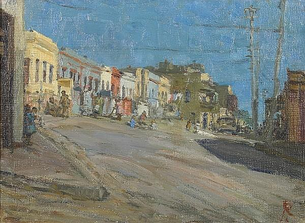Ruth Prowse (South African, 1883-1967) Upper Waterkant street, Cape Town