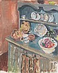 Freida Lock (South African, 1902-1962) Still life of dresser with bowls, Freida Lock, Click for value
