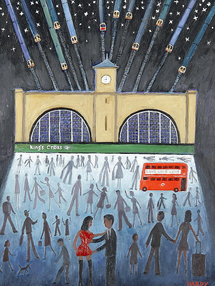 Robert Hardy (British, born 1952) 'Kings Cross at night'