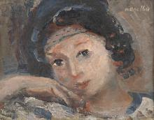 Raymond Kanelba Portrait de jeune fille, 1931 Oil on canvas 27 x 35 cm