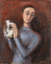 Raymond Kanelba Personnage au masque, 1932 Oil on canvas 80.5 × 65 cm