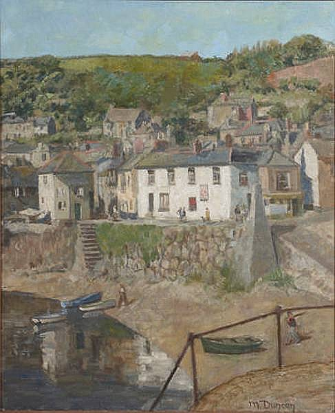 Mary Duncan (British, 1885-1964), Mary Duncan (British 1885 - 1964), Mousehole, Cornwall, on canvas, signed lower right, 60 x 49cm