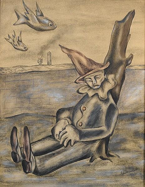 John Marsden Dronsfield (South African, 1900-1951) Dreaming clown